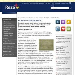 De Ratiate à Rezé-les-Nantes - Histoire - Découvrir Rezé
