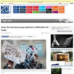 ACTA: De nouveaux pays gèlent la ratification du traité