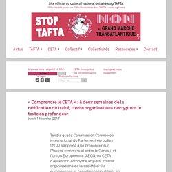 « Comprendre le CETA » : à deux semaines de la ratification du traité, trente organisations décryptent le texte en profondeur