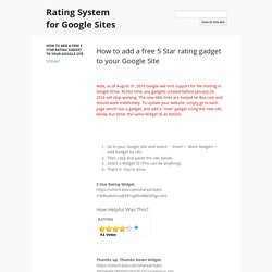 Rating System for Google Sites