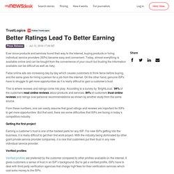 Better Ratings Lead To Better Earning - TrustLogics