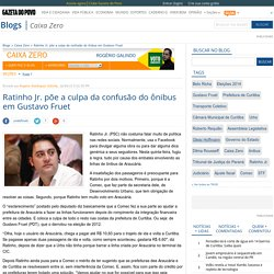 Ratinho Jr. põe a culpa da confusão do ônibus em Gustavo Fruet