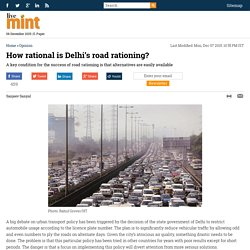 How rational is Delhi's road rationing?