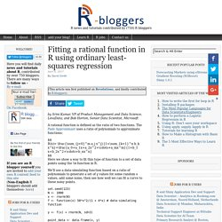 Fitting a rational function in R using ordinary least-squares regression