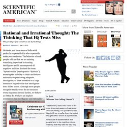 What IQ Tests Miss: The Inability of Rational Thinking