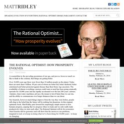 Rational Optimist - Matt Ridley
