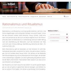 Rationalismus und Ritualismus - www.bibelstudium.de