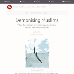 Paul Sims - Demonising Muslims