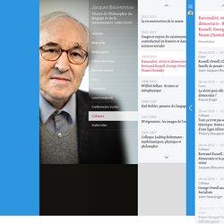 Rationalité, vérité et démocratie: Bertrand Russell, George Orwell, Noam Chomsky - Chaire de Philosophie du langage et de la connaissance (1995-2010) - Collège de France - 28 mai 2010 09:00