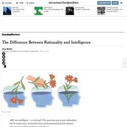 The Difference Between Rationality and Intelligence