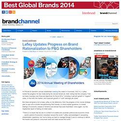 Lafley Updates Progress on Brand Rationalization to P&G Shareholders