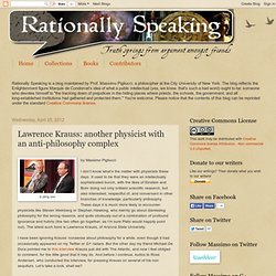 Lawrence Krauss: another physicist with an anti-philosophy complex