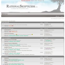 Rational Skepticism Forum