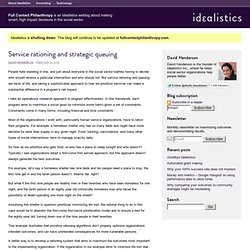 Service rationing and strategic queuing – Full Contact Philanthropy