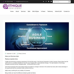 How to make your Business Agile.