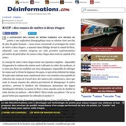 RATP : des rames de métro à deux étages