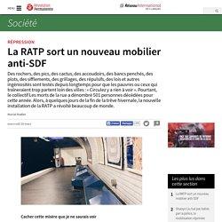 La RATP sort un nouveau mobilier anti-SDF