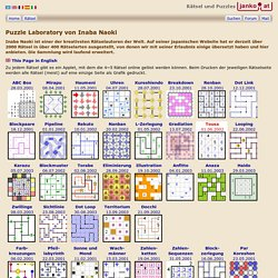 Puzzles created by Inaba Naoki