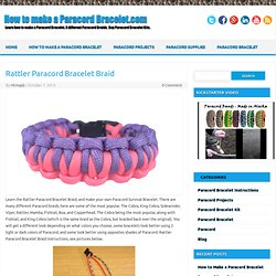 How to make a Paracord Bracelet.com