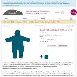 Overall mit Umschlagbund Wollfleece petrol 50/56