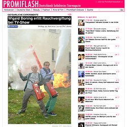 Wigald Boning erlitt Rauchvergiftung bei TV-Show