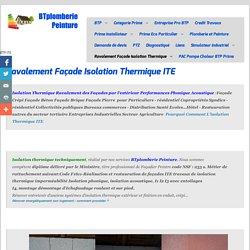 Ravalement Façade Isolation Thermique - Plomberie Peinture Isolation ITE