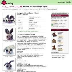 Amigurumi Dust Bunny Pattern pattern by Kate E. Hancock