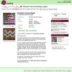 Birdlebee's Granny Ripple pattern by Birdlebee