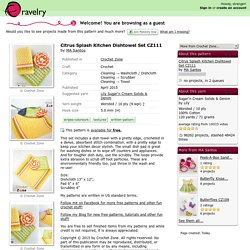 Citrus Splash Kitchen Dishtowel Set CZ111 pattern by MA Santos