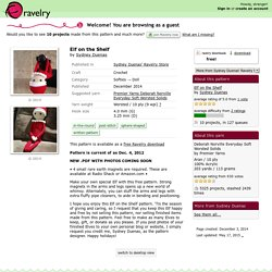 Elf on the Shelf pattern by Sydney Duenas