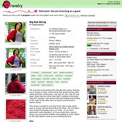 Big Red Shrug pattern by Sarah Wilson