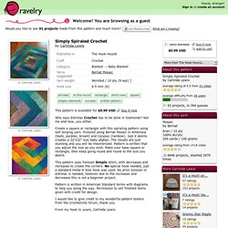 Simply Spiraled Crochet pattern by Carlinda Lewis