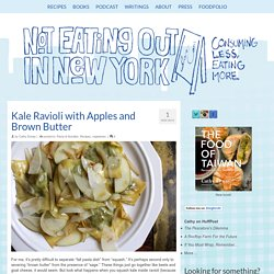 Kale Ravioli with Apples and Brown Butter