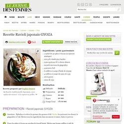 Ravioli japonais GYOZA : la recette