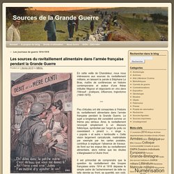 Les sources du ravitaillement alimentaire dans l'armée française pendant la Grande Guerre
