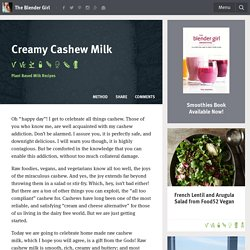 Cashew Nut Milk Recipe