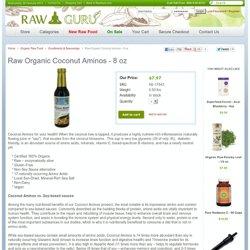 Raw Organic Coconut Aminos