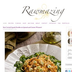 Rawmazing Raw Food Recipes and Information
