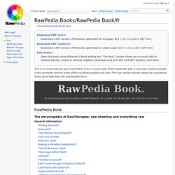RawPedia:Books/RawPedia Book/fr - RawPedia