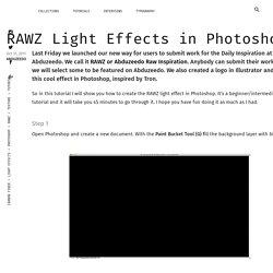 RAWZ Light Effects in Photoshop