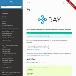 Ray — Ray 0.8.0.dev7 documentation