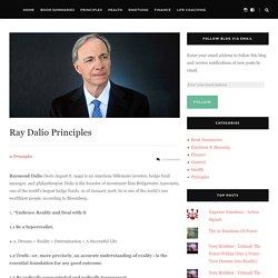 Ray Dalio Life Principles