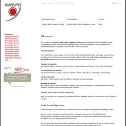 Raymond Loewy Foundation: Bewerben
