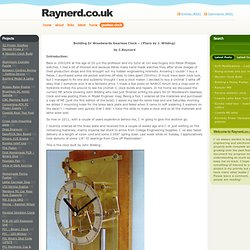 Raynerd.co.uk » Gearless Clock