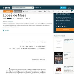 Raza y nación en Luis López de Mesa