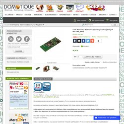 Carte Razberry - Extension Zwave pour Raspberry PI