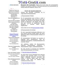 Tests de Razonamiento Gratis: Series, Dominoes