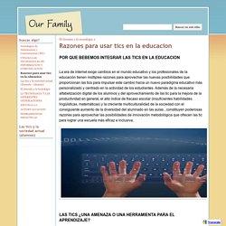 Razones para usar tics en la educacion - Aplicacion de tics