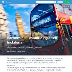 Razones para estudiar ingles en Inglaterra