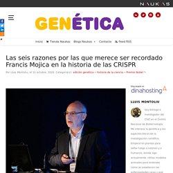 Las seis razones por las que merece ser recordado Francis Mojica en la historia de las CRISPR - Gen-Ética